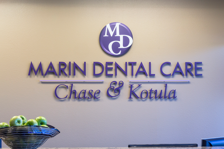 Marin Dental Care office sign